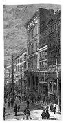 Bank Panic, 1873 Beach Towel