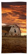 Barn On Highway 21 Beach Towel