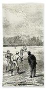 Baseball: England, 1874 Beach Towel