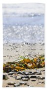 Beach Detail On Pacific Ocean Coast Beach Towel by Elena Elisseeva