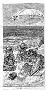 Beach Scene, 1879 Beach Towel