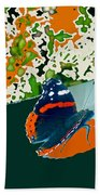 Beautiful Butterfly On Gold Beach Towel