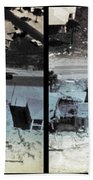 Before And After Hurricane Eloise 1975 Beach Towel