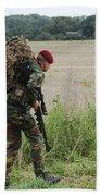 Belgian Paratroopers Red Berets Beach Towel