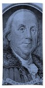 Ben Franklin In Cyan Beach Towel