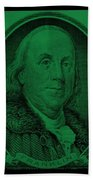 Ben Franklin In Dark Green Beach Towel