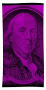 Ben Franklin In Purple Beach Towel