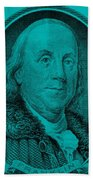 Ben Franklin In Turquois Beach Towel