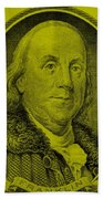 Ben Franklin In Yellow Beach Towel