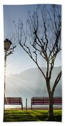 Bench And Trees Beach Towel