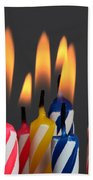 Birthday Candles Beach Towel