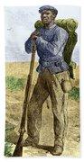 Black Civil War Soldier Beach Towel