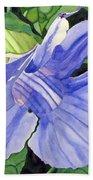 Blue Sky Vine Beach Towel