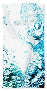 Blue White Water Bubbles In A Pool  Beach Towel