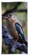 Blue-winged Kookaburra Beach Towel