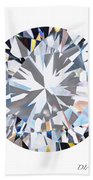 Brilliant Diamond Beach Towel by Setsiri Silapasuwanchai