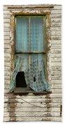 Broken Window In Abandoned House Beach Towel by Jill Battaglia