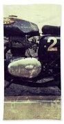 Bsa Motorbike Beach Towel