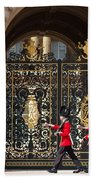 Buckingham Palace Guards Beach Towel
