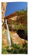 Calf Creek Falls Canyon Beach Towel