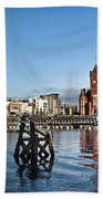 Cardiff Bay Panorama Beach Towel