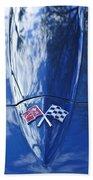 Chevrolet Corvette Hood Emblem Beach Towel