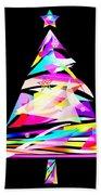 Christmas Tree Design Beach Towel