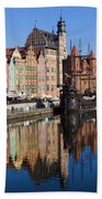 City Of Gdansk Beach Towel