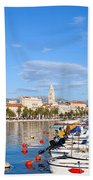 City Of Split In Croatia Beach Towel