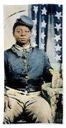 Civil War: Black Soldier Beach Towel