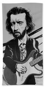 Clapton In Black And White Beach Towel
