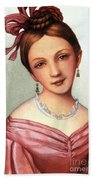 Clara Schumann (1819-1896) Beach Towel