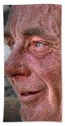 Close-up Profile Robert John K. Beach Towel