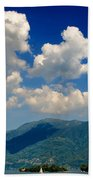 Clouds And Mountain Beach Towel