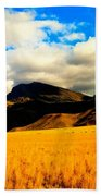 Clouds In The Mountains Beach Towel