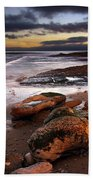 Coastline At Twilight Beach Towel