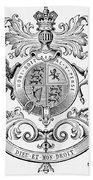 Coat Of Arms: Great Britain Beach Towel