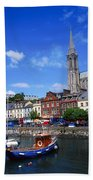 Cobh Cathedral & Harbour, Co Cork Beach Towel