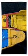 Colorful Boats, Srinagar, Dal Lake Beach Towel