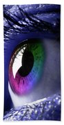Colorful Eye Beach Towel