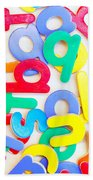 Colorful Letters Beach Towel