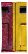 Colorful Mailboxes Beach Towel