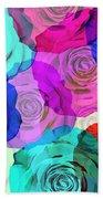Colorful Roses Design Beach Towel