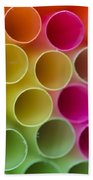 Colorful Straws Beach Towel