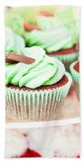 Cup Cakes Beach Towel by Tom Gowanlock