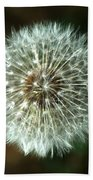 Dandelion Seed Head Beach Towel