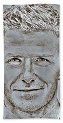 David Beckham In 2009 Beach Sheet
