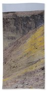 Degassing North Crater With Fumarolic Beach Towel