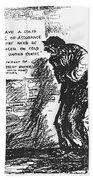 Depression Cartoon, 1932 Beach Towel