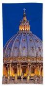 Dome San Pietro Beach Towel by Brian Jannsen
